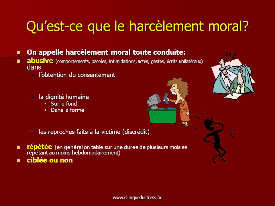 Qu'est-ce que le harcèlement moral
