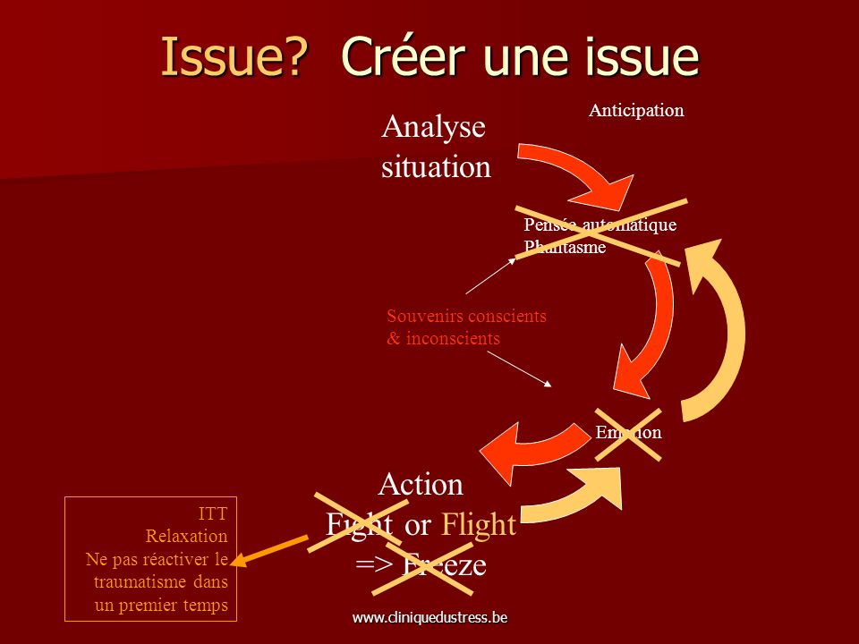 Issue Créer une issue Analyse situation Action Fight or Flight