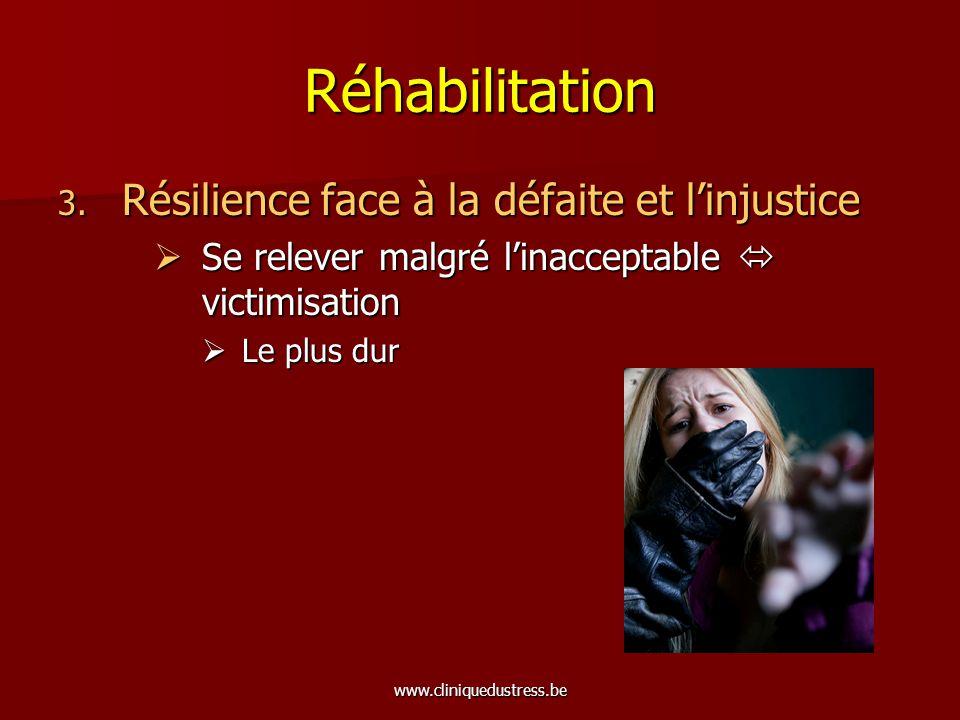 Réhabilitation Résilience face à la défaite et l'injustice