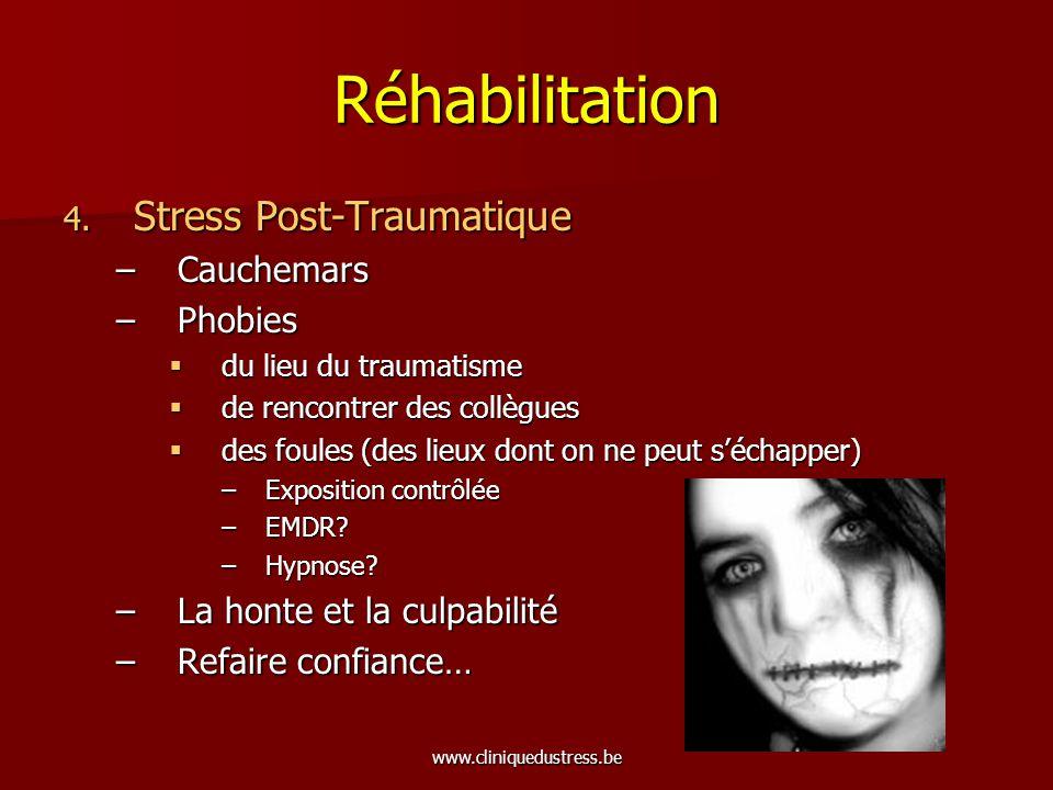 Réhabilitation Stress Post-Traumatique Cauchemars Phobies