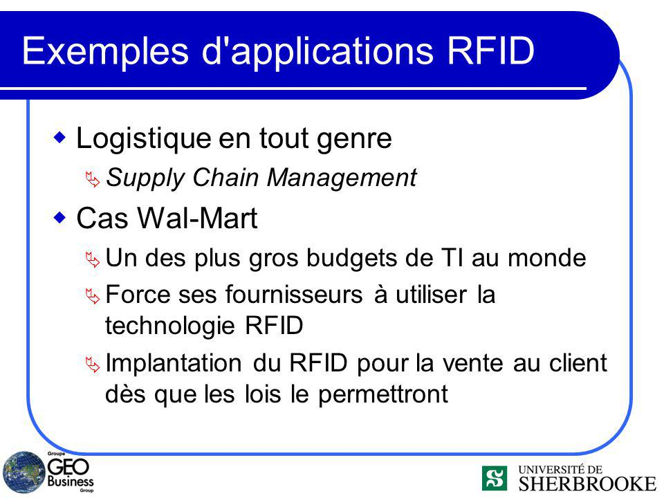 Exemples d applications RFID