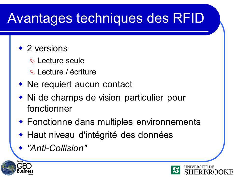 Avantages techniques des RFID