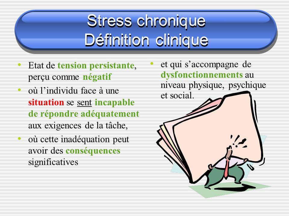 Stress chronique Définition clinique