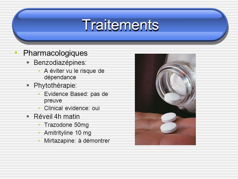 Traitements Pharmacologiques Benzodiazépines: Phytothérapie:
