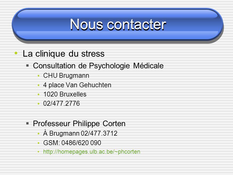 Nous contacter La clinique du stress