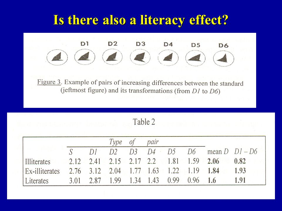 Is there also a literacy effect