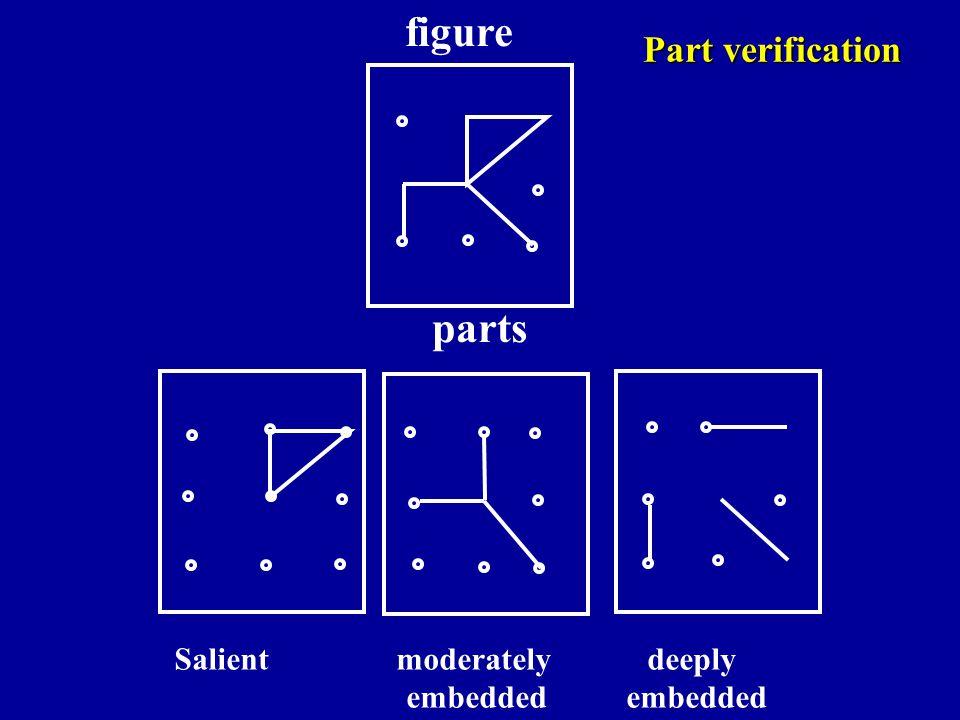 figure parts Part verification Salient moderately deeply