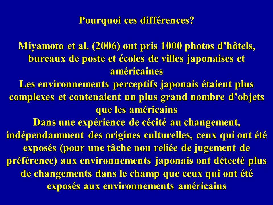 Pourquoi ces différences. Miyamoto et al