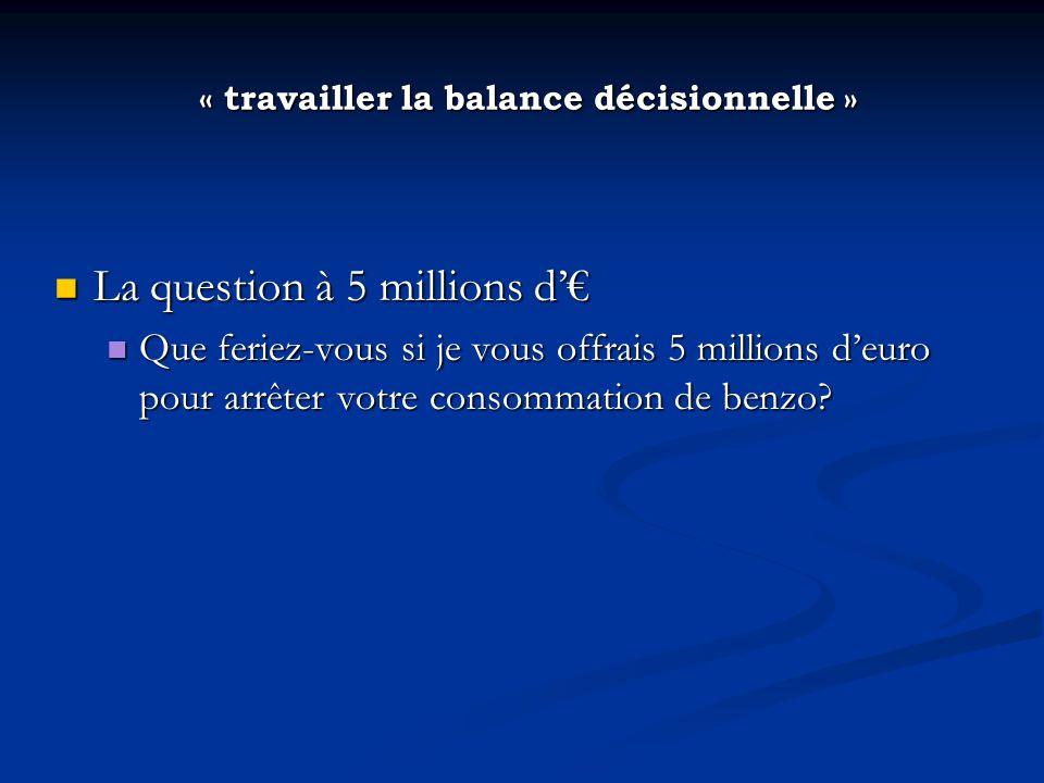 « travailler la balance décisionnelle »