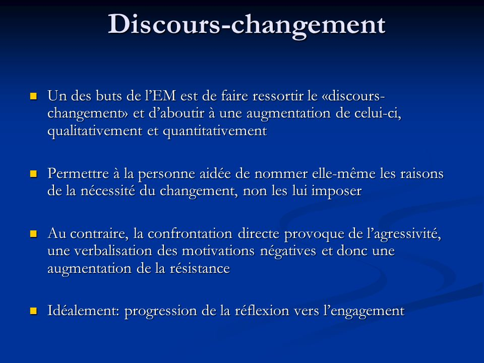 Discours-changement