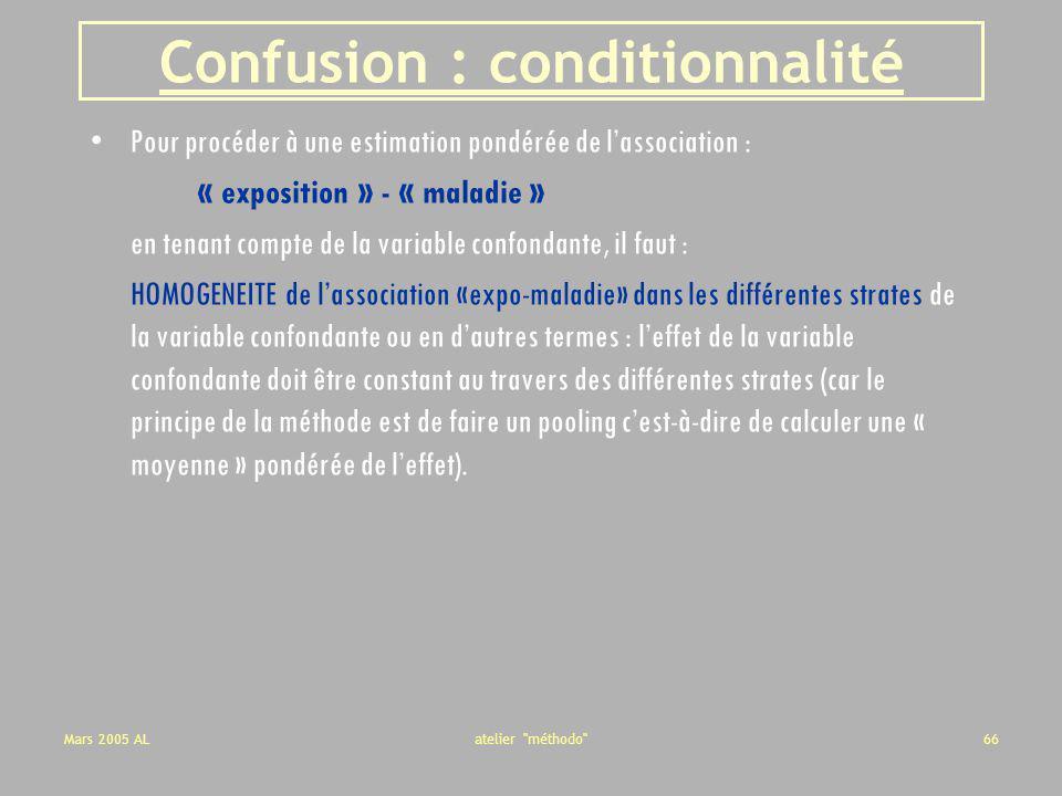 Confusion : conditionnalité