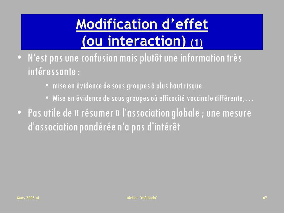 Modification d'effet (ou interaction) (1)