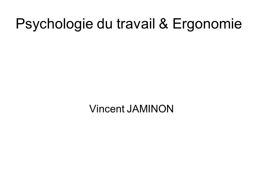 Psychologie du travail & Ergonomie