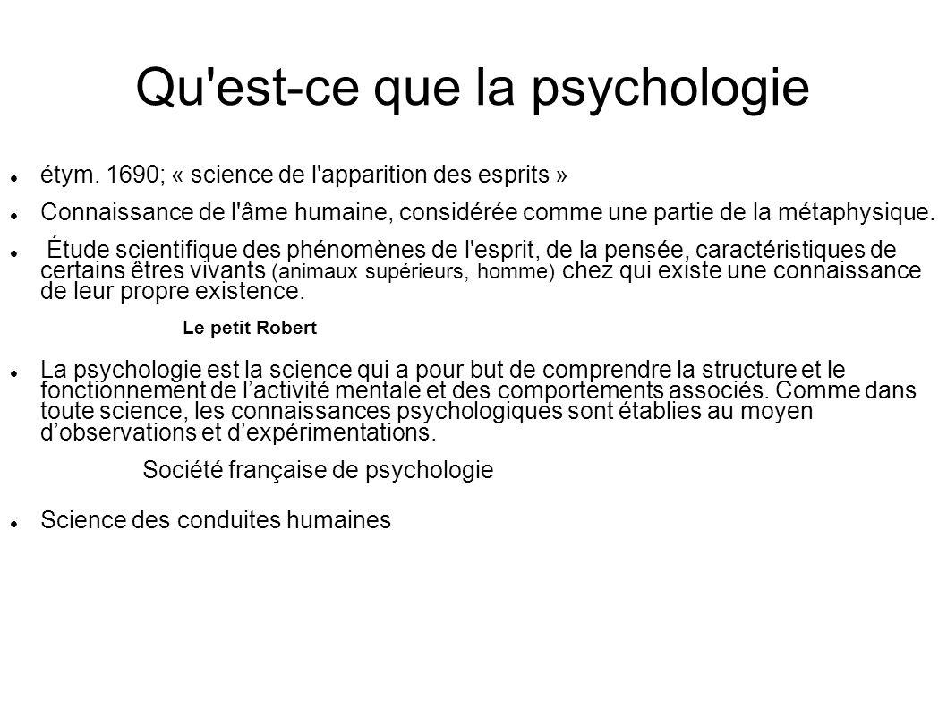 Qu est-ce que la psychologie