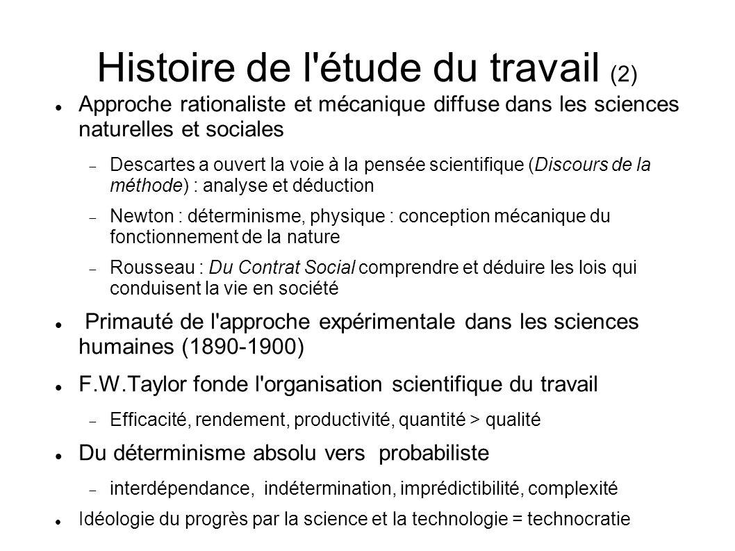 Histoire de l étude du travail (2)
