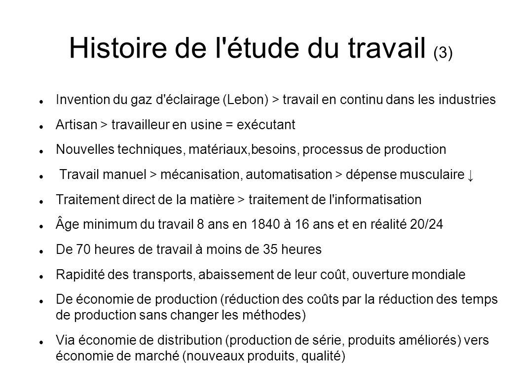 Histoire de l étude du travail (3)