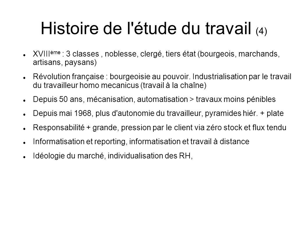 Histoire de l étude du travail (4)
