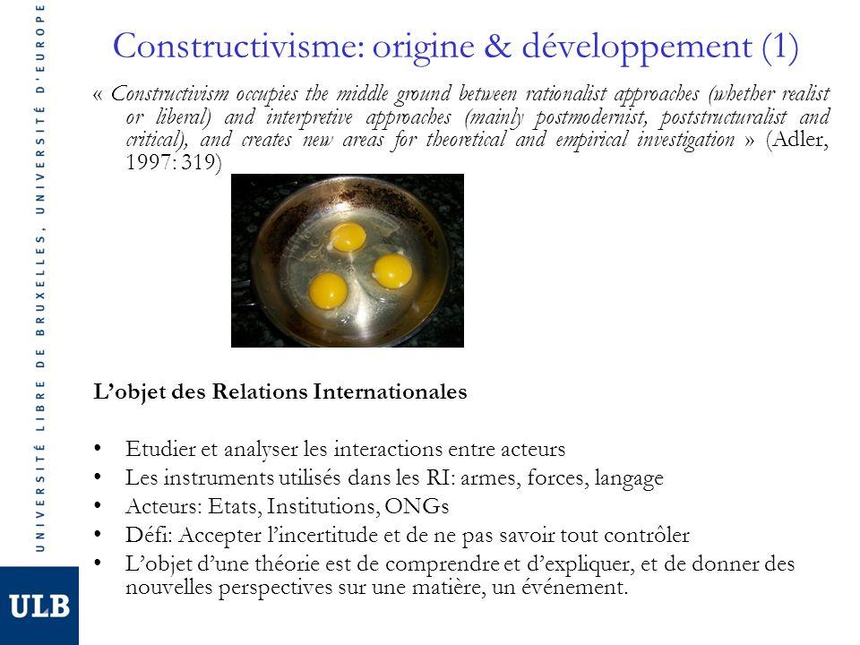 Constructivisme: origine & développement (1)