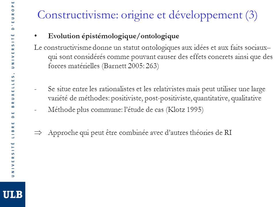 Constructivisme: origine et développement (3)
