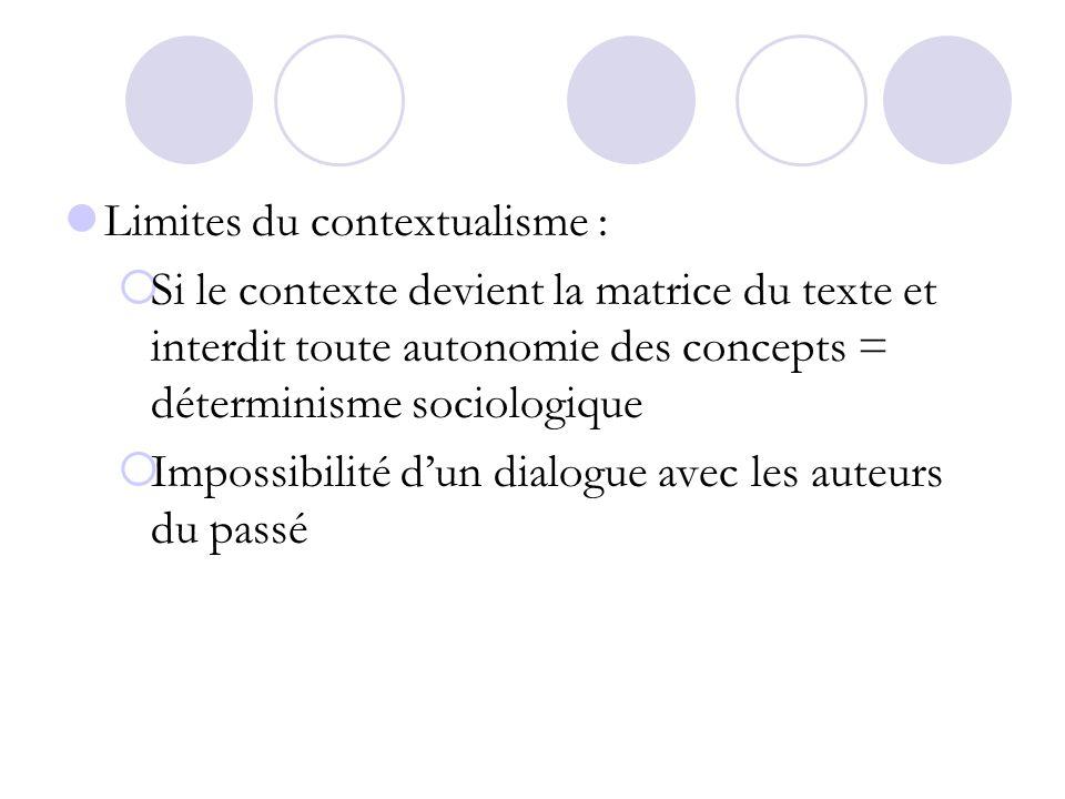 Limites du contextualisme :