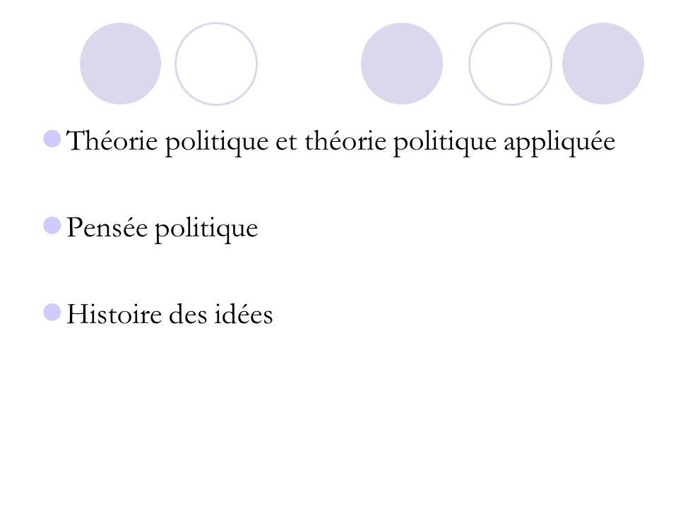 Théorie politique et théorie politique appliquée