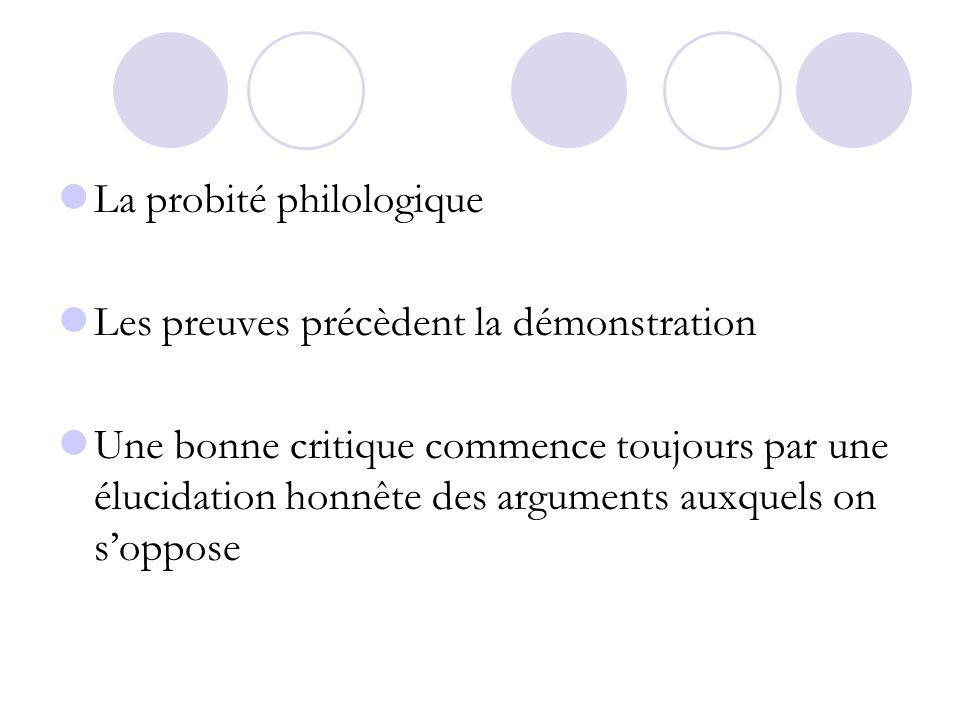 La probité philologique