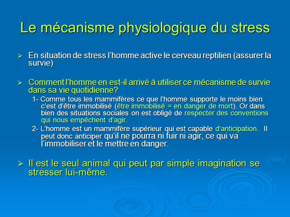 Le mécanisme physiologique du stress