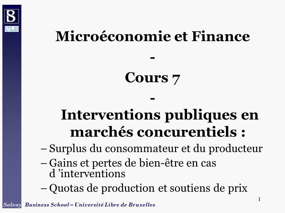 Microéconomie et Finance - Cours 7