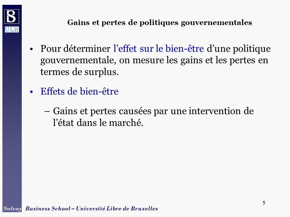 Gains et pertes de politiques gouvernementales