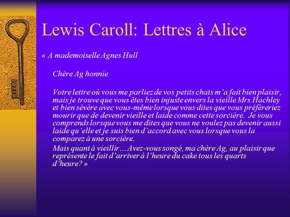 Lewis Caroll: Lettres à Alice