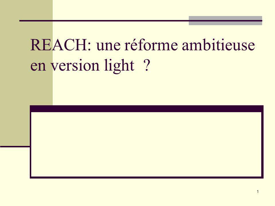 REACH: une réforme ambitieuse en version light