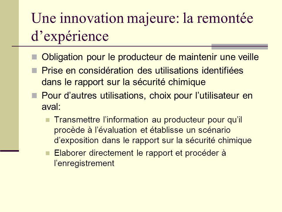 Une innovation majeure: la remontée d'expérience