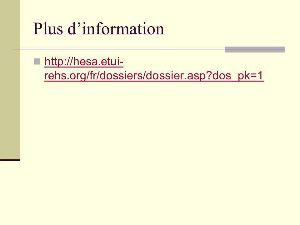 Plus d'information http://hesa.etui-rehs.org/fr/dossiers/dossier.asp dos_pk=1