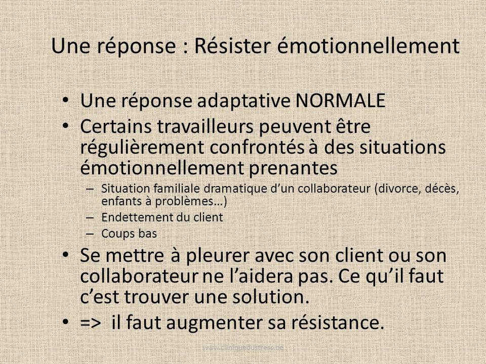 Une réponse : Résister émotionnellement