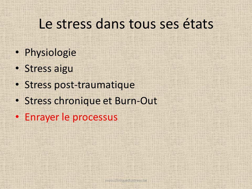 Le stress dans tous ses états