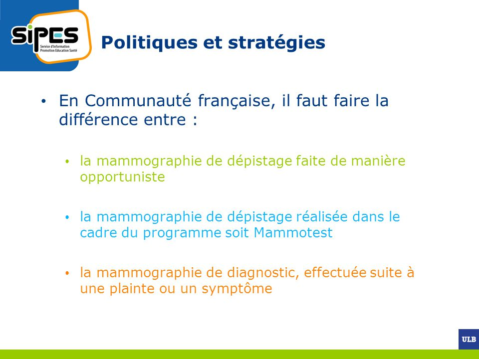 Politiques et stratégies