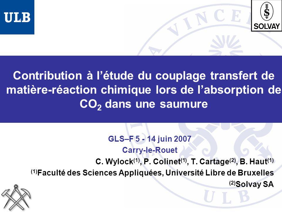 Contribution à l'étude du couplage transfert de matière-réaction chimique lors de l'absorption de CO2 dans une saumure