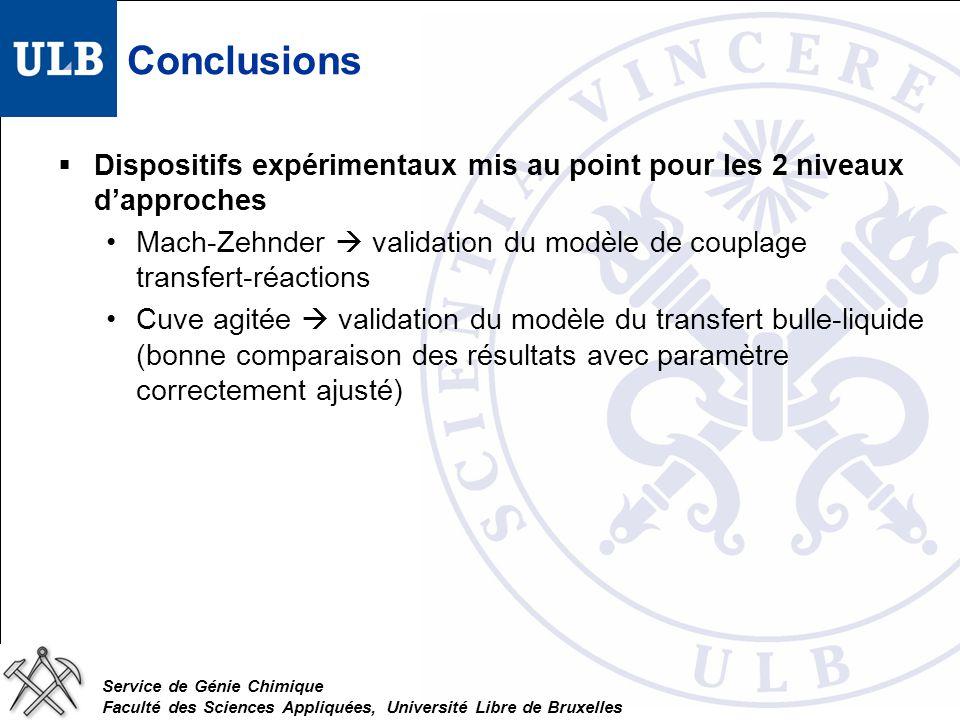 Conclusions Dispositifs expérimentaux mis au point pour les 2 niveaux d'approches.