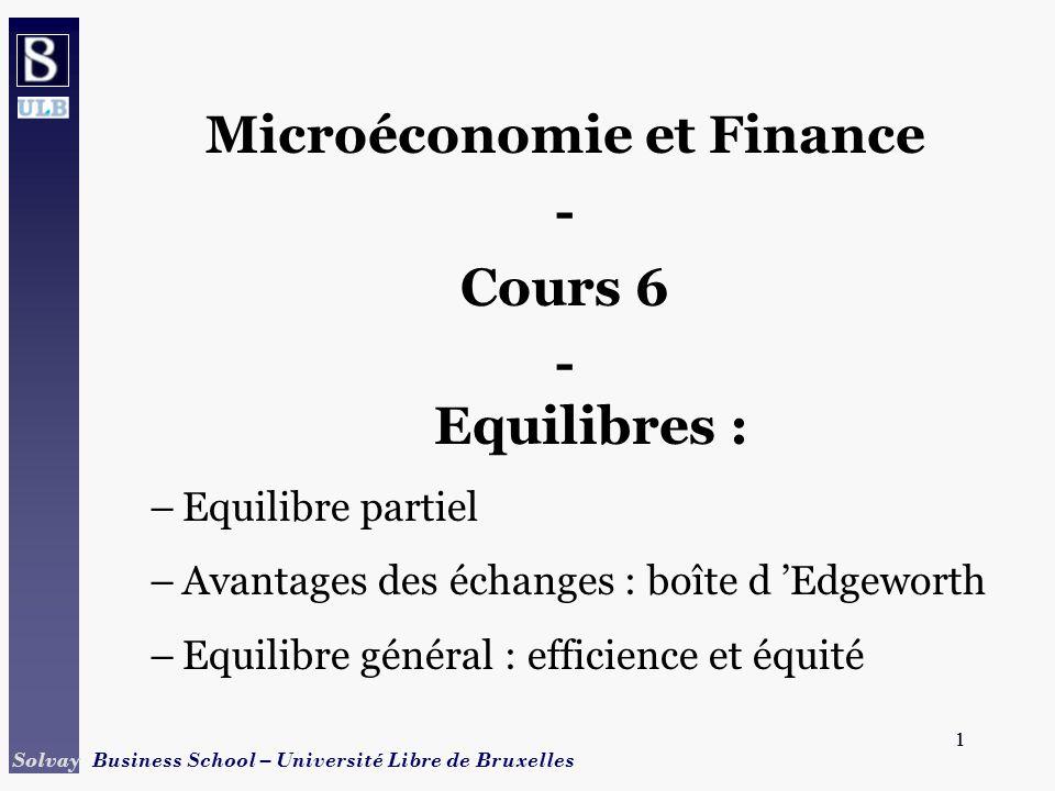 Microéconomie et Finance
