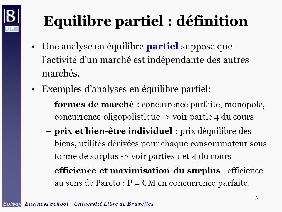 Equilibre partiel : définition