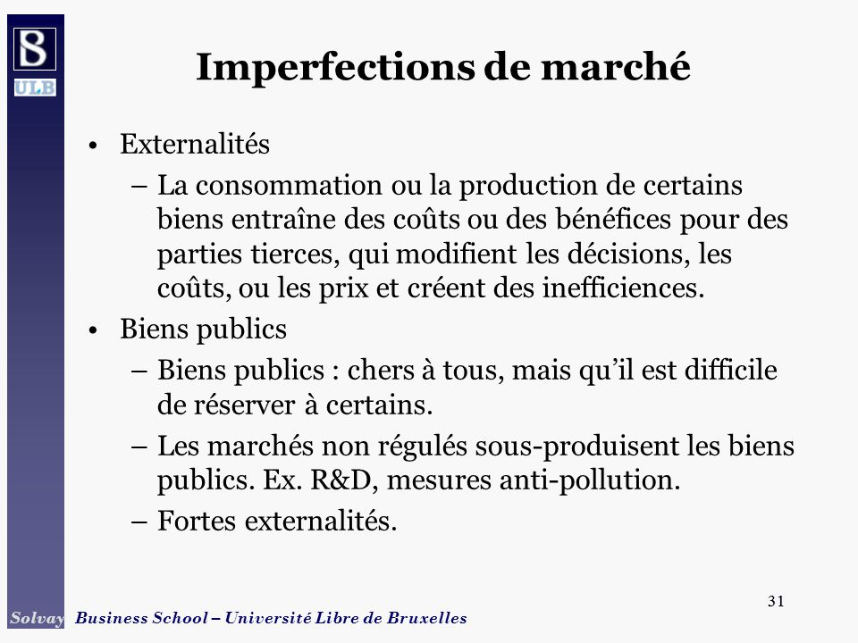 Imperfections de marché