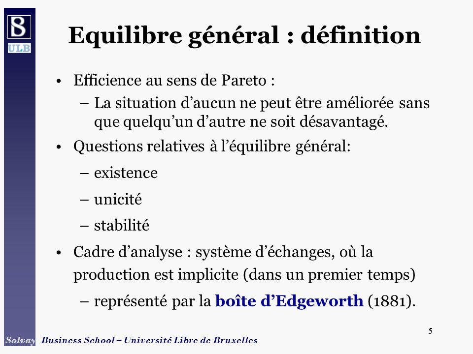 Equilibre général : définition