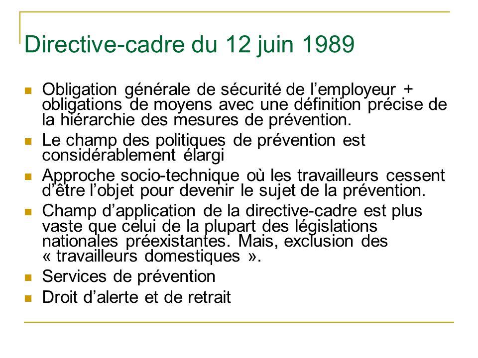 Directive-cadre du 12 juin 1989