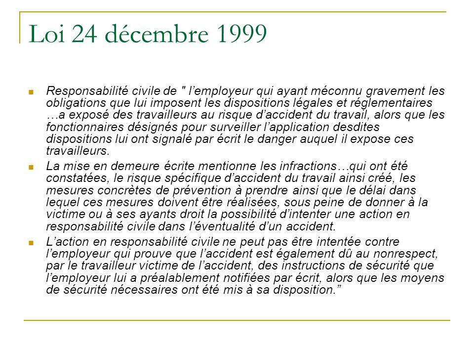 Loi 24 décembre 1999