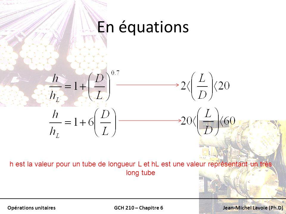 En équations h est la valeur pour un tube de longueur L et hL est une valeur représentant un très long tube.