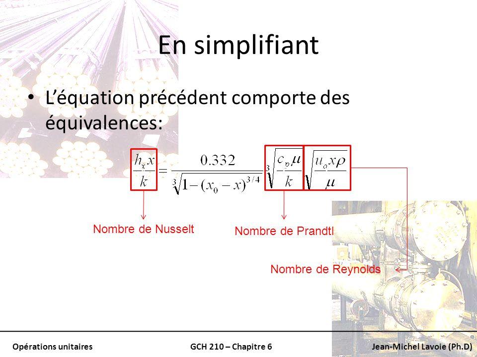En simplifiant L'équation précédent comporte des équivalences: v v v