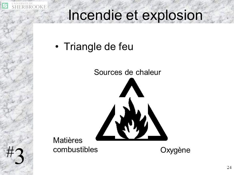 #3 Incendie et explosion Triangle de feu Sources de chaleur