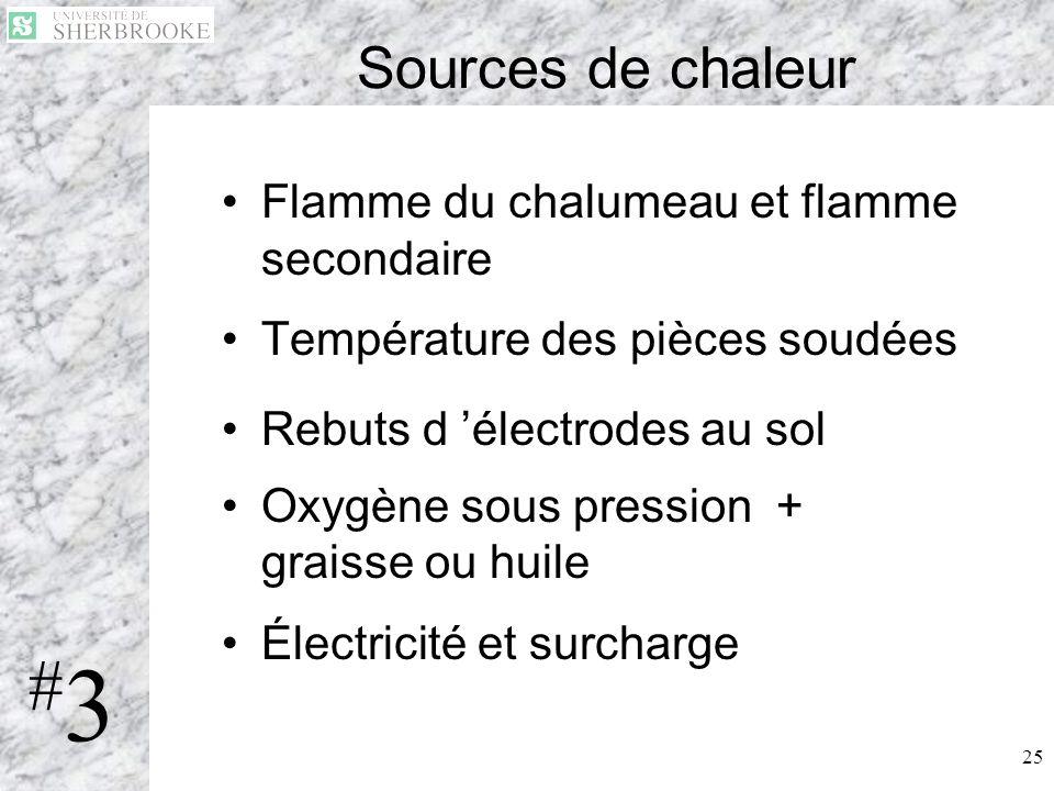 #3 Sources de chaleur Flamme du chalumeau et flamme secondaire