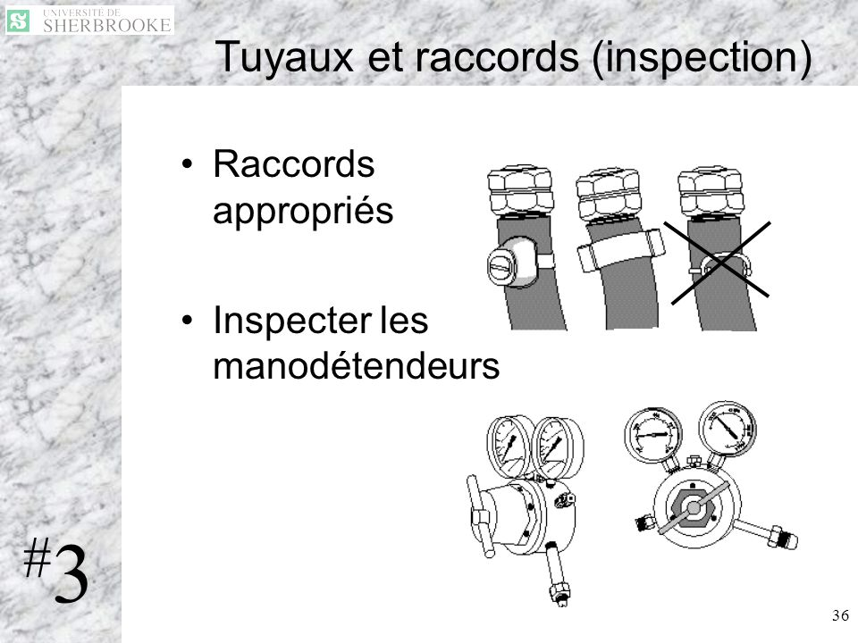 Tuyaux et raccords (inspection)