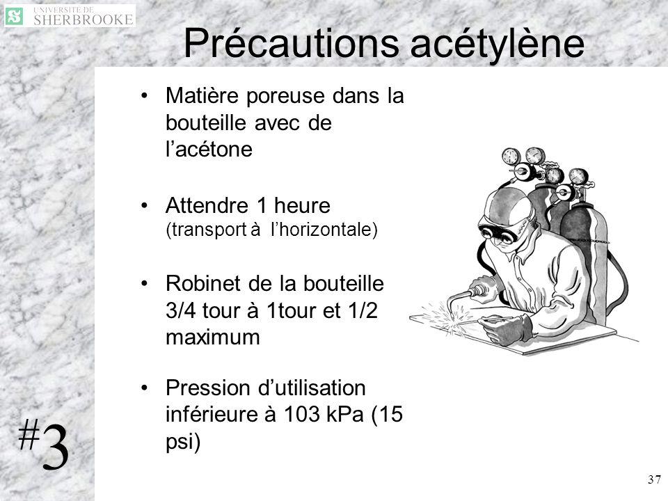 Précautions acétylène